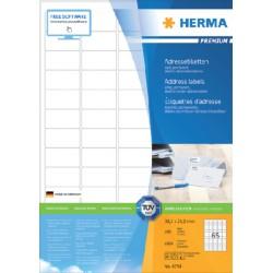 Etiket Herma 4254 38.1x21.2mm premium wit 6500stuks