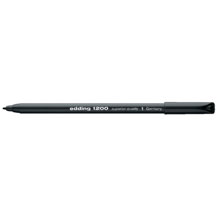Fineliner edding 1200 zwart 0.5-1mm