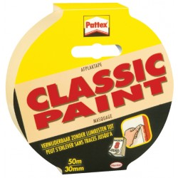 Afplaktape Pattex 30mmx50m Classic creme