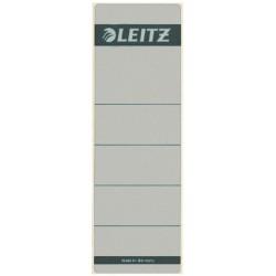 Rugetiket Leitz breed/kort 62x192mm zelfklevend grijs
