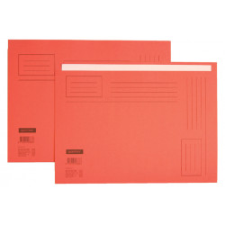Vouwmap Quantore A4 ongelijke zijde 250gr rood