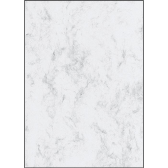 Designpapier Sigel A4 90gr marmer grijs